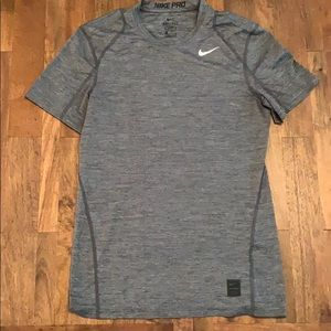 Men's Nike Pro Dri-Fit Grey/Black Fitted Shirt
